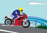 Fototapety Motorbiker