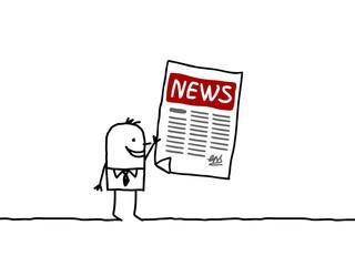 man & news