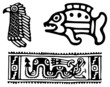 Fantastic animals and birds of Aztecs