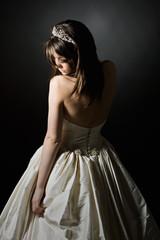 Low Key Shot of a Stunning Teenage Bride