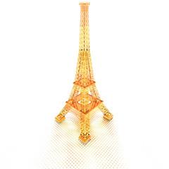 golden Eiffel Tower in Paris on dotted background