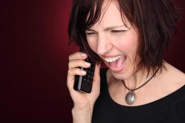 wütendes Telefongespräch
