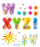 Fototapety Abc set letters W - Z, marks of punctuation, design elements
