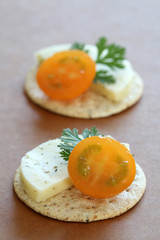 Appetizer - Cheese and Crackers