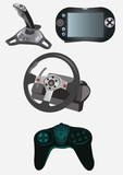 Video game devices poster