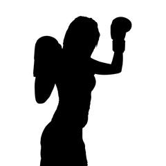 Siegerpose beim Boxen