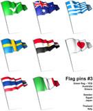 Fototapety Flag pins 3