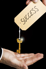 handed key to success