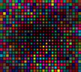Multicolor Pixels Abstract poster
