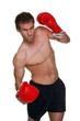 Male boxer uppercut punch