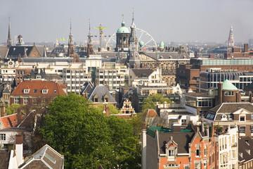 Bird view of Amsterdam, the Netherlands