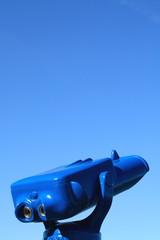 Blick ins Himmel-Blau, Fernrohr, Himmel, Ausblick