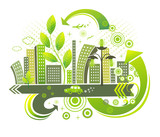 Fototapety Green city.