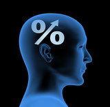 Percentage - an index of intelligence poster