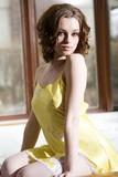 Pretty yellow lingerie