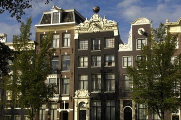 Hollande, Amsterdam, maison ancienne dans le centre