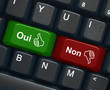 """Oui"" & ""Non"" keys on keyboard (French)"