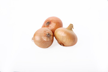 Three isolated onions