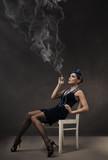 Vogue style retro portrait - 30s lady poster