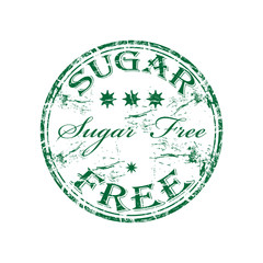 Sugar free rubber stamp