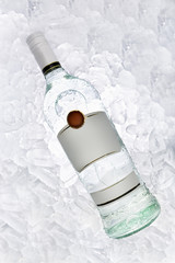 bottle of rum on ice