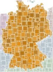 Mosaico marrone della Germania