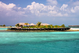 Small maldivian island resort