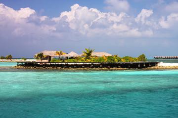 Small maldivian island resort