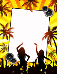 Summer disco-party card