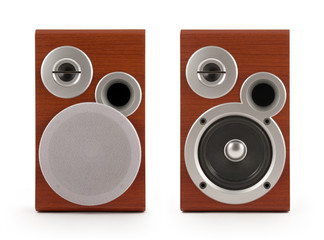 Two Speakers on white with clipping path. See also.