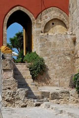 Edificio antico a Rodi, Grecia