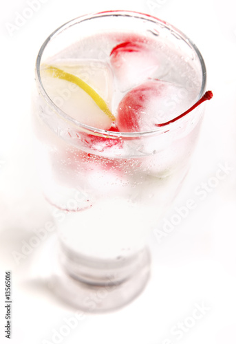 frozen fruit glass