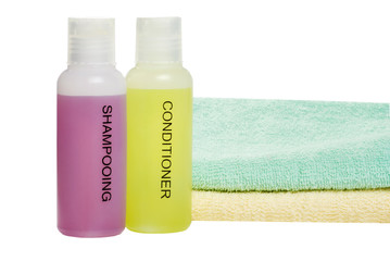towels and hair care products