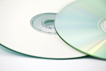 two CDs -close up