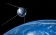Sputnik satellite on earth orbit