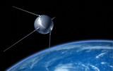 Sputnik satellite on earth orbit