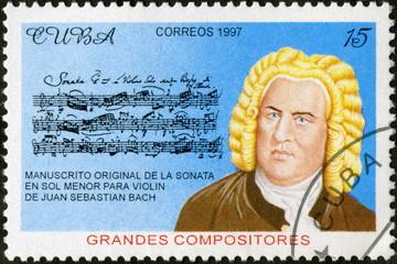 Cuba. Correos. Bach. Timbre Postal. 1997