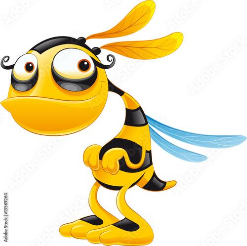 Fototapety, obrazy : Funny bee