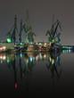 And cranes of Gdansk shipyard, Poland.