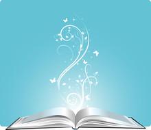magic book, vector illustration