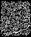 white complicated decoration poster