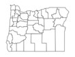 vector map of oregon, usa