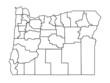 vector map of oregon, usa