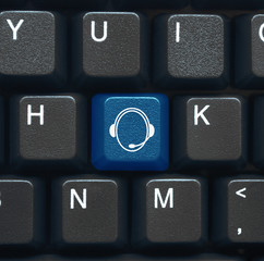 Helpdesk symbol key on keyboard