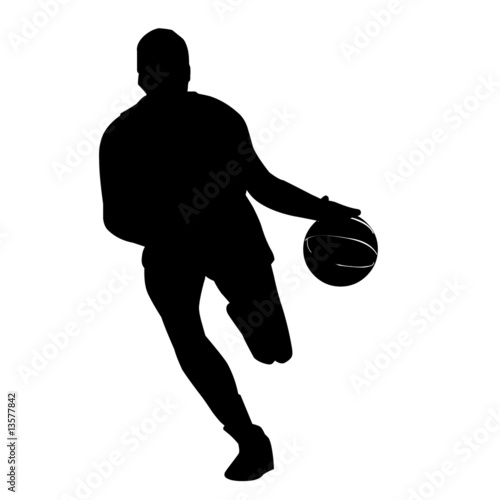 basketball player silhouette. asketball player silhouette
