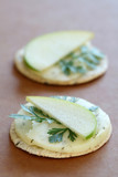 Havarti Cheese and Green Apple and Crackers
