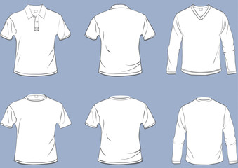 Set of shirt templates