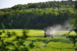 Tractor Spraying Pesticide poster