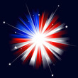 USA styled burst of light