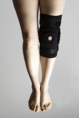 Knee In Knee Brace After An Injury